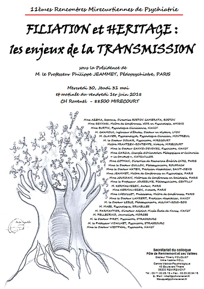 affiche 11e rencontres mirecurtiennes de psychiatrie - transmission