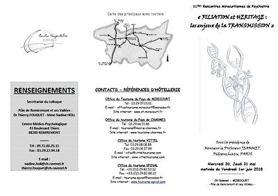 flyer recto 11e rencontres mirecurtiennes de psychiatrie - transmission