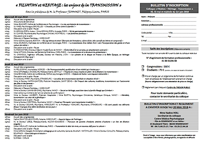 flyer verso 11e rencontres mirecurtiennes de psychiatrie - transmission