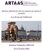 Journées Nationales de l'ARTAAS 24-25 mars 2016